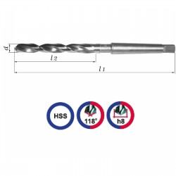 Wiertło NWKC 12mm szlifowane HSS