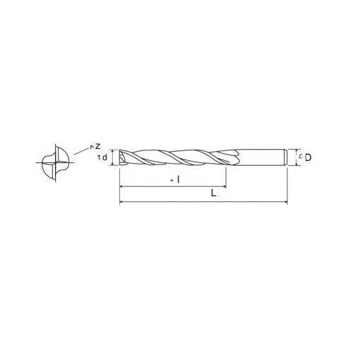 Frez walcowo-czołowy fi 1,5 długi Z-2  - Pafana
