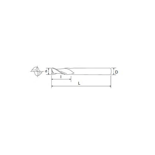 Frez walcowo-czołowy fi 1,5 krótki Z-2  - Pafana