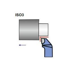 Nóż boczny wygięty ISO3 lewy NNBd 16x10 P10 S10