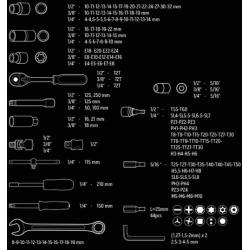 Klucze nasadowe zestaw 219 elementów - NEO TOOLS